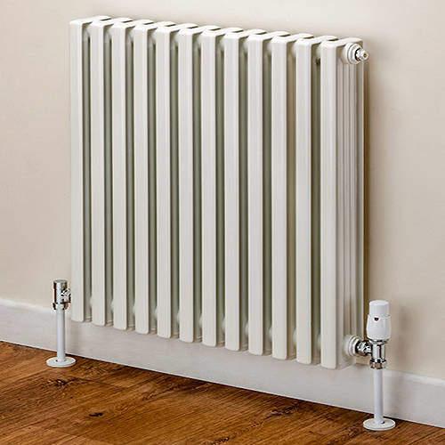 EcoHeat Woburn Horizontal Aluminium Radiator 568x1020 (White).