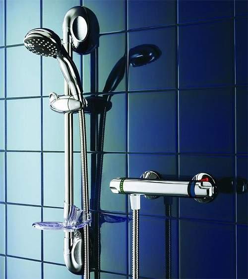 Galaxy Showers Quasar Bar Mixer Shower Valve Kit (Chrome).