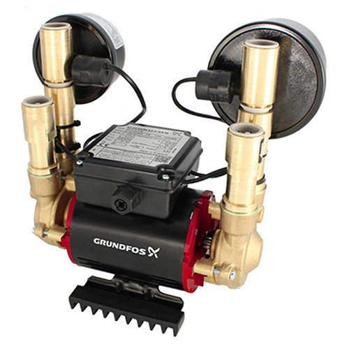 Grundfos Pumps STN-1.5B Twin Ended Shower Pump (1.5 Bar, Universal).