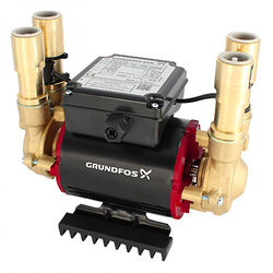 Grundfos Pumps STP-2.0B Twin Ended Shower Pump (2.0 Bar, Positive).