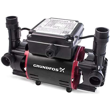 Grundfos Pumps STR2-1.5C Twin Ended Shower Pump (1.5 Bar, Positive).