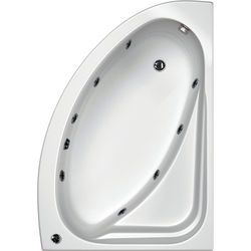 Hydrabath Orlando RH Corner Whirlpool Bath With 8 Jets & Panel, 1500x1040.