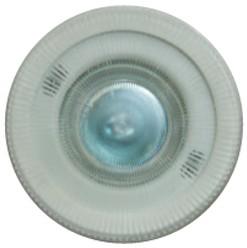 Helo Flush Light Fitting With Flameless Glass Lens, Bulb & Transformer.