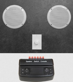 Helo Steam Proof Speaker Kit With Switch Box & Speakers.
