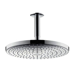 Hansgrohe Raindance S 240 2 Jet Eco Shower Head & Arm (240mm, Chrome).