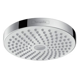 Hansgrohe Croma Select S 180 2 Jet Shower Head (180mm, White & Chrome).