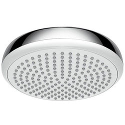 Hansgrohe Crometta 180 1 Jet EcoSmart Shower Head (White & Chrome).