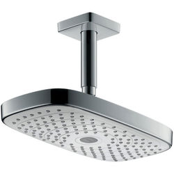 Hansgrohe Raindance E 300 2 Jet Eco Shower Head & Arm (White & Chrome).