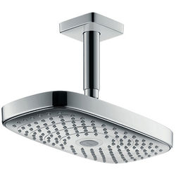 Hansgrohe Raindance E 300 2 Jet Shower Head & Arm (300x160mm, Chrome).