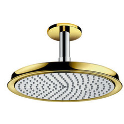 Hansgrohe Raindance Classic 240 Shower Head & Arm (Gold & Chrome).