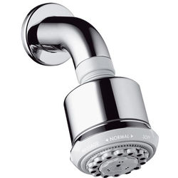 Hansgrohe Clubmaster 3 Jet Shower Head & Wall Arm (85mm, Chrome).