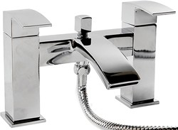 Hydra Asti Waterfall Bath Shower Mixer Tap With Shower Kit (Chrome).