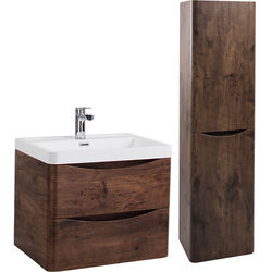 Italia Furniture Bali Bathroom Furniture Pack 03 (Chestnut).