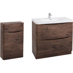 Italia Furniture Bali Bathroom Furniture Pack 05 (Chestnut).