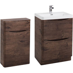 Italia Furniture Bali Bathroom Furniture Pack 06 (Chestnut).
