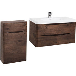 Italia Furniture Bali Bathroom Furniture Pack 08 (Chestnut).