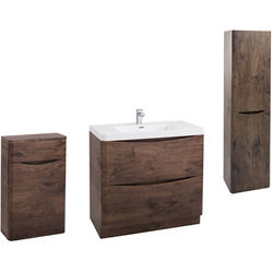 Italia Furniture Bali Bathroom Furniture Pack 09 (Chestnut).