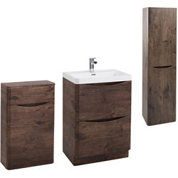 Italia Furniture Bali Bathroom Furniture Pack 10 (Chestnut).