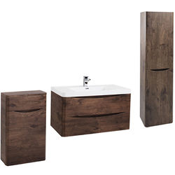 Italia Furniture Bali Bathroom Furniture Pack 12 (Chestnut).
