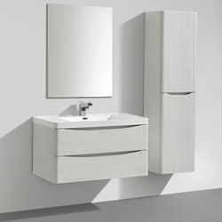 Italia Furniture Bali Bathroom Furniture Pack 01 (White Ash).