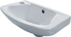 Hydra Wall Hung Basin & Brackets (1 Tap Hole).  Size 360x262mm.