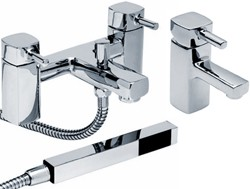 Hydra Chester Basin & Bath Shower Mixer Tap Set (Free Shower Kit).