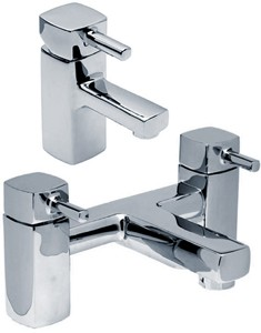 Hydra Chester Basin Mixer & Bath Filler Tap Set (Chrome).
