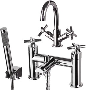 Basin Amp Bath Shower Mixer Tap Set Free Shower Kit Hydra