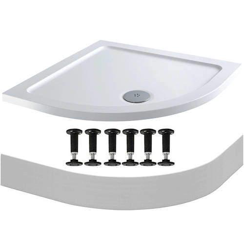 Tuff Trays Easy Plumb Quadrant Stone Resin Shower Tray 900x900mm.