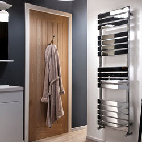Oxford Swift Heated Towel Radiator 1600x500mm (Chrome).