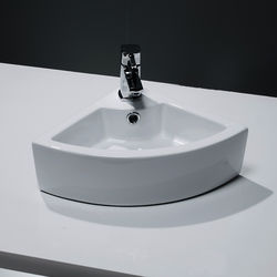Oxford Wall Hung Corner Cloakroom Basin 325x325mm (1 Tap Hole).