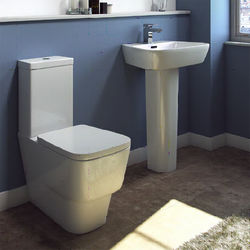 Oxford Dearne Bathroom Suite With Toilet, Cistern, Seat, Basin & Full Pedestal.