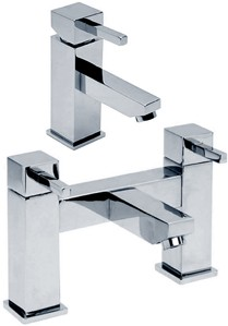 Hydra Grange Basin Mixer & Bath Filler Tap Set (Chrome).