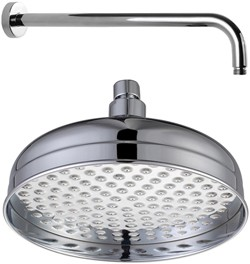 Hydra Showers 200mm Traditional Shower Head & Wall Mounting Arm.