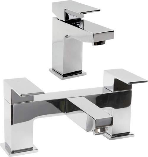 Hydra Lucca Basin & Bath Filler Tap Set (Chrome).