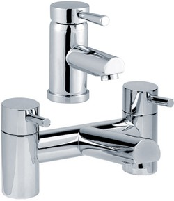 Hydra Malton Basin Mixer & Bath Filler Tap Set (Chrome).