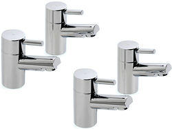 Hydra Malton Basin & Bath Taps Pack (Chrome).