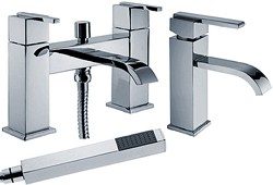 Hydra Norton Basin & Bath Shower Mixer Tap Set (Free Shower Kit).