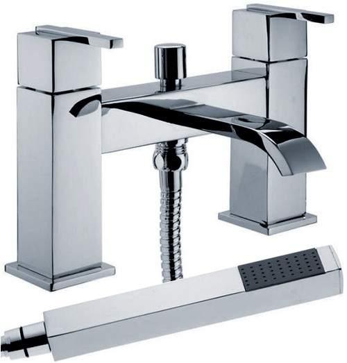 Hydra Norton Bath Shower Mixer Tap With Shower Kit (Chrome).