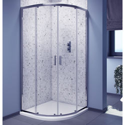 Oxford 800mm Quadrant Shower Enclosure With Chrome Frame (6mm).