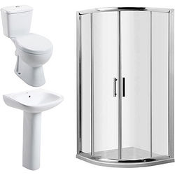 Oxford En Suite Bathroom Pack With 900mm Shower Enclosure & 6mm Glass.