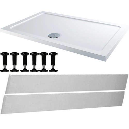 Tuff Trays Rectangular Easy Plumb Stone Resin Shower Tray 1200x760mm.