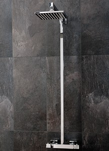 Hydra Showers Thermostatic Bar Shower Valve With Rigid Riser Kit.