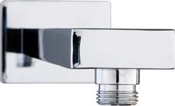 Hydra Showers Square Wall Mounting Shower Arm (345mm, Chrome).