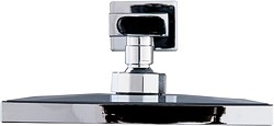 Hydra Showers Square Shower Head & Wall Mounting Arm (Chrome).