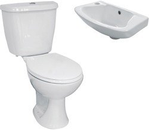Hydra 3 Piece Bathroom Suite With Toilet & Basin.