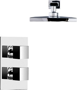 Hydra Showers Thermostatic Twin Shower With Head & Arm (Chrome).