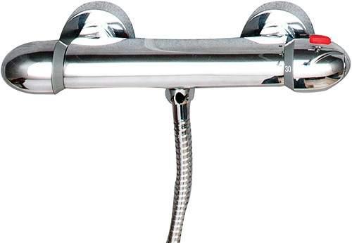Hydra Showers Thermostatic Bar Shower Valve (Chrome).