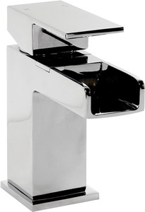 Hydra Waterfall Waterfall Mono Basin Mixer Tap With Click Clack Waste.