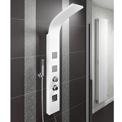 Hydra Showers Thermostatic Shower Panel With Jets (White).